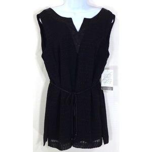 Emma James Tunic Dress Shirt Size 12 Black